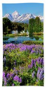 Grand Teton Lovely Lupines Bath Towel by Greg Norrell
