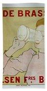 Grande Brasserie, 1894 Belgian Vintage Brewery Poster Bath Towel