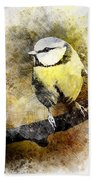 Great Tit Hand Towel