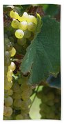 Green Grapes On The Vine 10 Bath Towel
