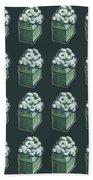 Green Present Pattern Hand Towel