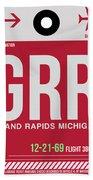 Grr Grand Rapids Luggage Tag II Bath Towel