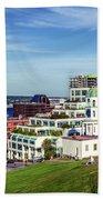 Halifax Town Clock And Halifax Skyline Bath Towel