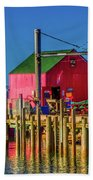 Halls Harbour Nova Scotia Bath Towel