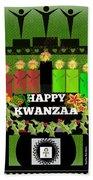Happy Kwanzaa Bath Towel