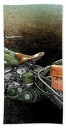 Harley Davidson 1942 Experimental Army Bath Towel