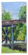 Harrison Park Bridge-ellijay River - Sun Peeking Under Hand Towel