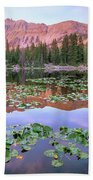 Hayden Peak And Butterfly Lake, Uinta Bath Towel