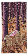 Hazy Purple Hustle Bath Towel by Amy E Fraser