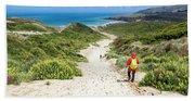 Hiking To Sandfly Bay New Zealand Bath Towel