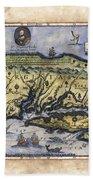 Historical Map Hand Painted Drake Virginia Bath Towel