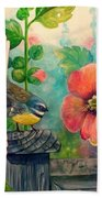 Hollyhocks Bath Towel