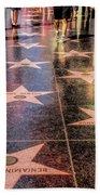 Hollywood Walk Of Fame Bath Towel by Christopher Arndt