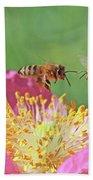Honeybees Bath Towel