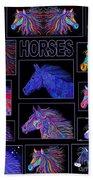 Horses Poster Bath Towel
