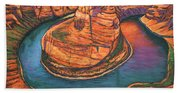 Horseshoe Bend Sunset Bath Towel