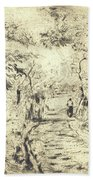 In The Fields At Ennery, 1875 Bath Towel