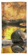 Indian Summer Bath Towel by Chris Coffee