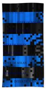 Inter Milan Pixels Hand Towel