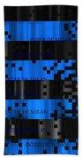 Inter Milan Pixels Bath Towel