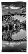 Iron Bridge Shropshire  Bath Towel by Adrian Evans