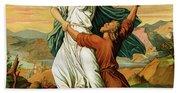 Jacob Wrestiling With The Angel  Bath Towel