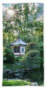 Japanese Garden #4 - Island Pagoda Vertical Bath Towel