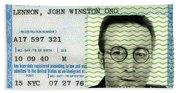 John Lennon Immigration Green Card 1976 Hand Towel