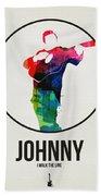 Johnny Cash Watercolor Hand Towel