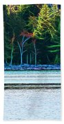 Jordan Pond Kayak Bath Towel by Patti Whitten