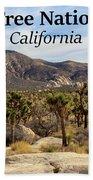 Joshua Tree National Park Valley, California Hand Towel