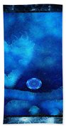 Kaleidoscope Moon For Children Gone Too Soon Number - 4 Cerulean Valentine  Hand Towel