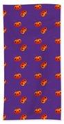Kawaii Pumpkin Purple Bath Towel