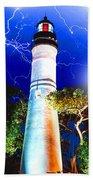 Key West Lightning Light House Bath Towel