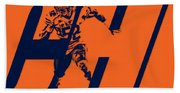 Khalil Mack Chicago Bears City Art Hand Towel