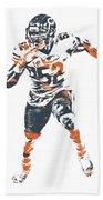 Khalil Mack Chicago Bears Pixel Art 1 Bath Towel