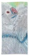 Koala With Baby - Pastel Wildlife Painting Bath Towel