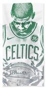 Kyrie Irving Boston Celtics Water Color Pixel Art 30 Hand Towel
