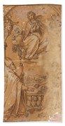 La Virgen En Gloria Apareciendose A Varios Santos  Bath Towel