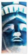Lady Liberty In Negative Bath Towel