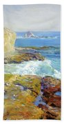 Laguna Rocks Low Tide 1916 Bath Towel