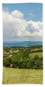 Landscape With Orchards Bath Towel