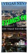 Las Vegas The City That Never Sleeps Custom Pc Bath Towel