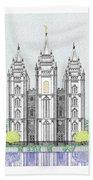 Lds Salt Lake Temple - Colorized Hand Towel
