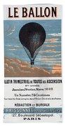 Le Ballon Aeronautical Journal, 1883 French Poster Hand Towel
