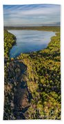 Litte Traverse Lake Vertical Panorama Bath Towel