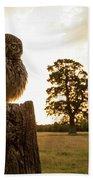 Little Owl Sunset Bath Towel
