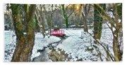 Little Red Walk Bridge Hand Towel