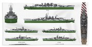 Littorio Class Battleships Bath Towel