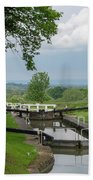 Looking Down Caen Hill Hand Towel